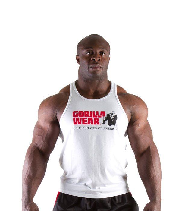 Gorilla Wear Classic Tanktop Wit - Voorkant