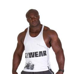 Gorilla Wear G!WEAR Stringer Tanktop Wit - Voorkant