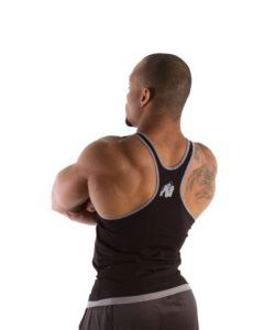 Gorilla Wear – Stringer Tanktop – Zwart – Achterkant