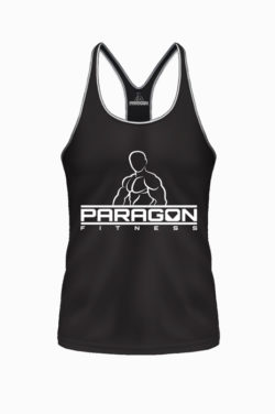 Paragon Fitness Bodybuilding Stringer Singlet Zwart