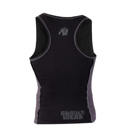 Gorilla Wear G!Wear Rib Tanktop zwart/grijs - achterkant vrijstaand