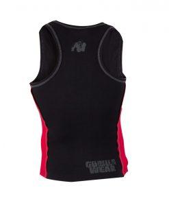 Gorilla Wear G!Wear Rib Tanktop zwart/rood achterkant - vrijstaand