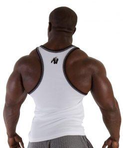 Gorilla Wear Stamina Rib Tanktop wit - achterkant