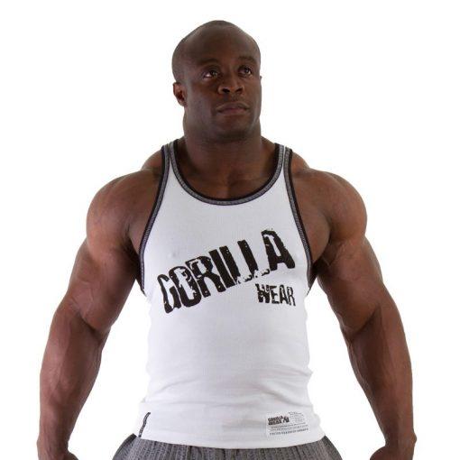 Gorilla Wear Stamina Rib Tanktop wit - voorkant