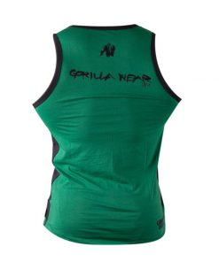 Gorilla Wear Stretch Tanktop groen - achterkant vrijstaand