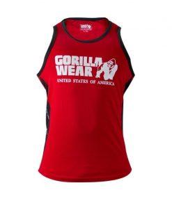Gorilla Wear Stretch Tanktop rood - voorkant vrijstaand