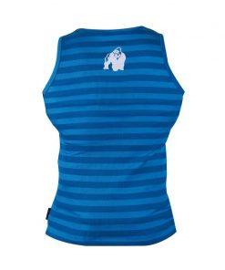 Gorilla Wear Stripe Stretch Tankto blauw - achterkant vrijstaand