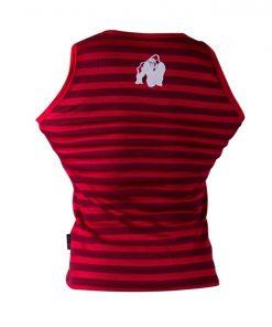 Gorilla Wear Stripe Stretch Tanktop rood - achterkant vrijstaand
