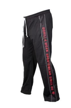 Gorilla Wear Functional Mesh Pants zwart/rood - zijkant links