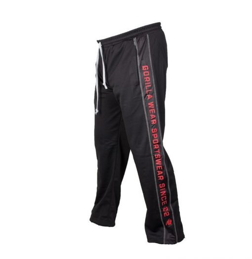 Gorilla Wear Functional Mesh Pants zwart/rood - zijkant links