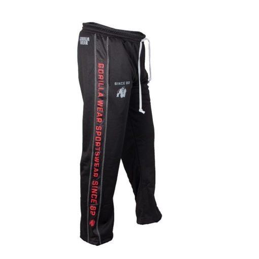 Gorilla Wear Functional Mesh Pants zwart/rood - zijkant rechts
