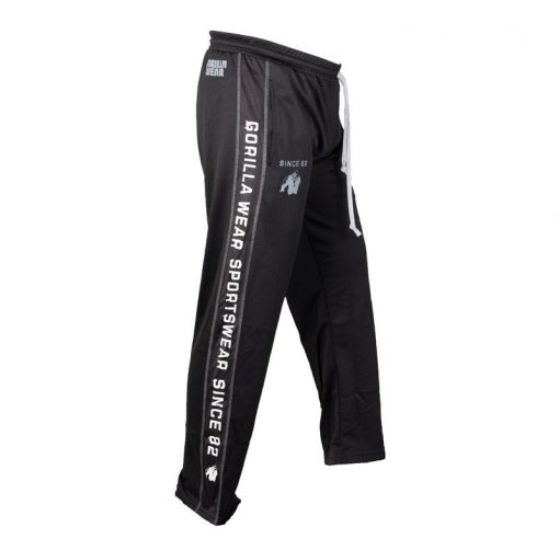 Gorilla Wear Functional Mesh Pants zwart/wit - zijkant rechts