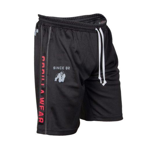 Gorilla Wear Functional Mesh Short zwart/rood - voorkant