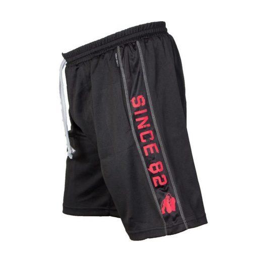 Gorilla Wear Functional Mesh Short zwart/rood - zijkant