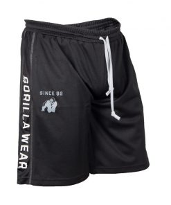 Gorilla Wear Functional Mesh Short zwart/wit - voorkant