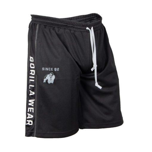 Gorilla Wear Functional Mesh Short zwart/wit - voorkant