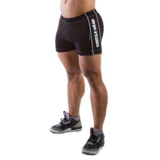Gorilla Wear Hotpant Heavy Short zwart - voorkant schuin