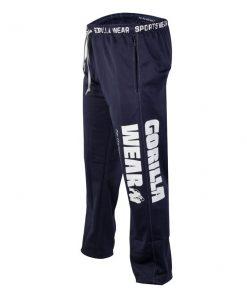 Gorilla Wear Logo Mesh Pants blauw - zijkant logo