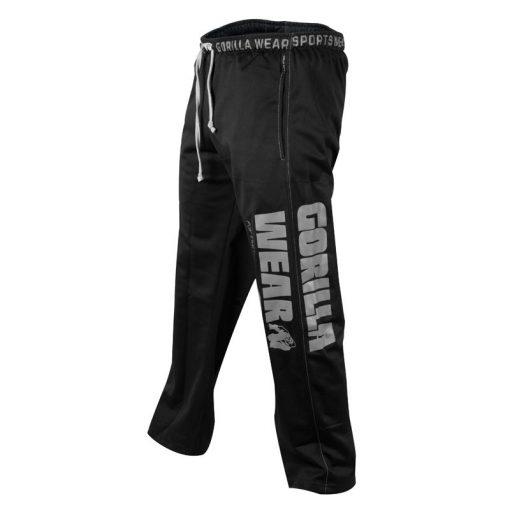 Gorilla Wear Logo Mesh Pants zwart - zijkant logo