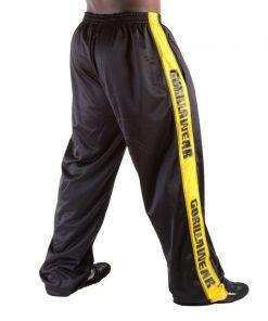 Gorilla Wear Track Pants zwart/geel - achterkant
