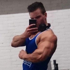 Jan Willem van der Klis Bodybuilding Kleding gesponsorde atleet triceps
