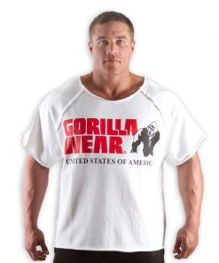 Gorilla Wear Classic Work Out Top wit - voorkant