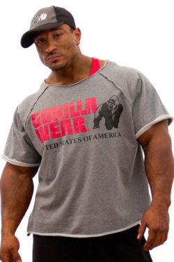Gorilla Wear Classic Work Out Top grijs - voorkant Roelly Winklaar