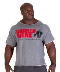 Gorilla Wear Classic Work Out Top grijs – voorkant