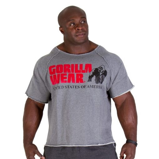 Gorilla Wear Classic Work Out Top grijs - voorkant