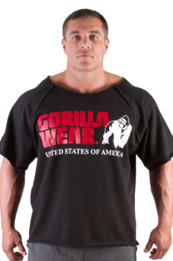 Gorilla Wear Classic Work Out Top zwart - voorkant