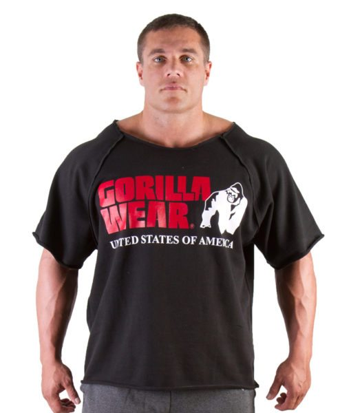 Gorilla Wear Classic Work Out Top zwart - voorkant