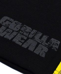 Gorilla-Wear-G!wear-Rib-Tanktop-Zwart_Geel-detail2