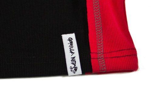 Gorilla-Wear-G!wear-Rib-Tanktop-Zwart_Rood-detail3