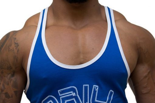 Gorilla-Wear-Logo-Stringer-Singlet-Blauw-detail1
