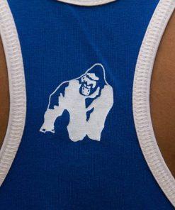 Gorilla-Wear-Logo-Stringer-Singlet-Blauw-detail2