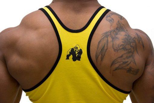 Gorilla-Wear-Logo-Stringer-Singlet-Geel-detail2