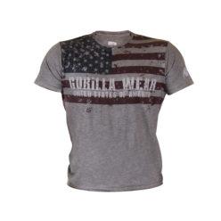 Gorilla Wear USA Flag Tee - voorkant