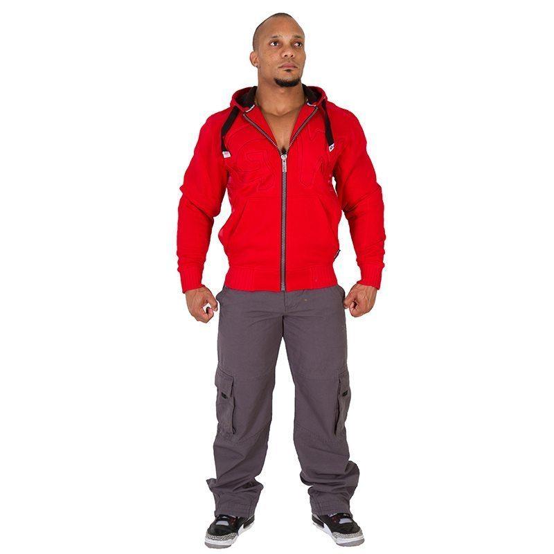 Gorilla-Wear-Logo-Hooded-Jacket-Rood-1