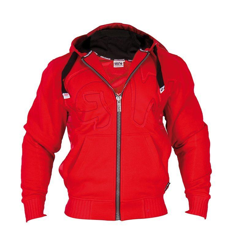 Gorilla-Wear-Logo-Hooded-Jacket-Rood-3