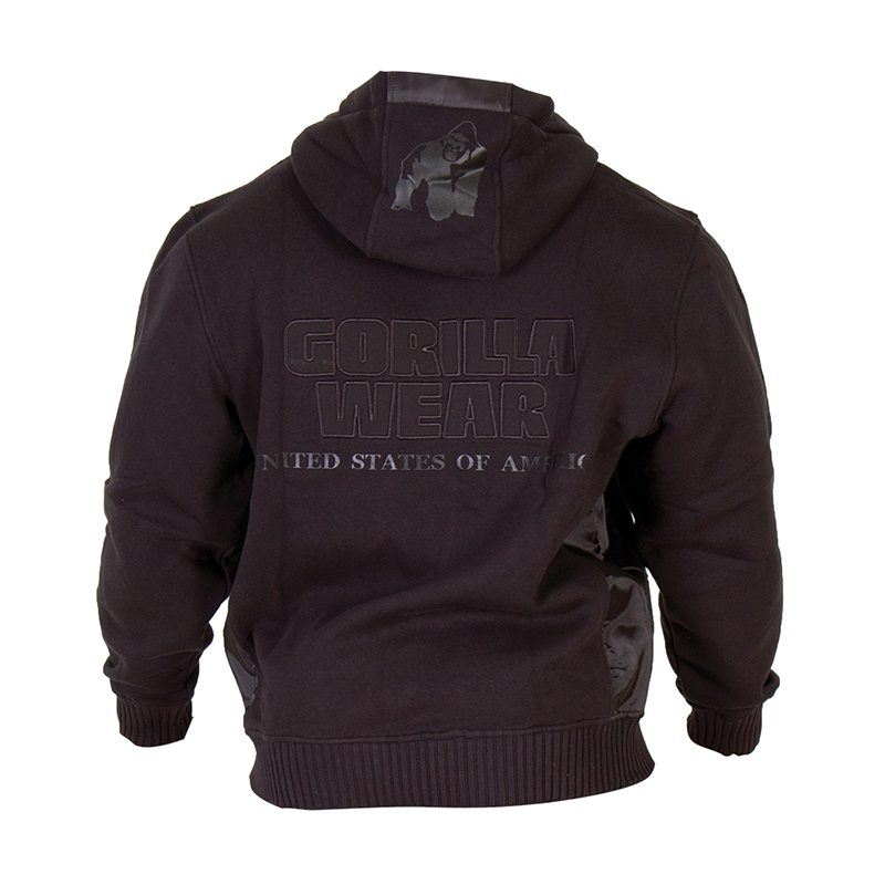 Gorilla-Wear-Logo-Hooded-Jacket-Zwart-3