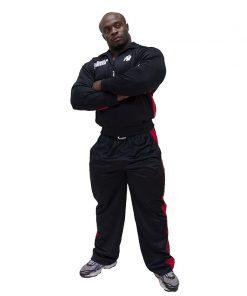 Gorilla-Wear-Track-Jacket-Zwart_Rood-1