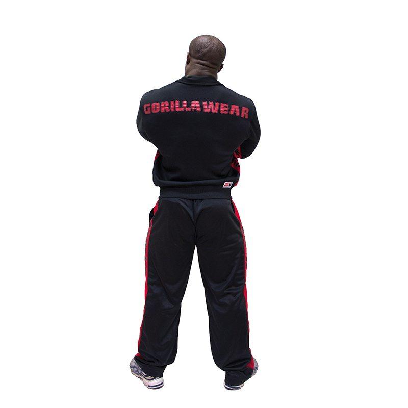 Gorilla-Wear-Track-Jacket-Zwart_Rood-2