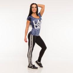 Nebbia Batik 864 - Sportshirt Dames Blauw-1