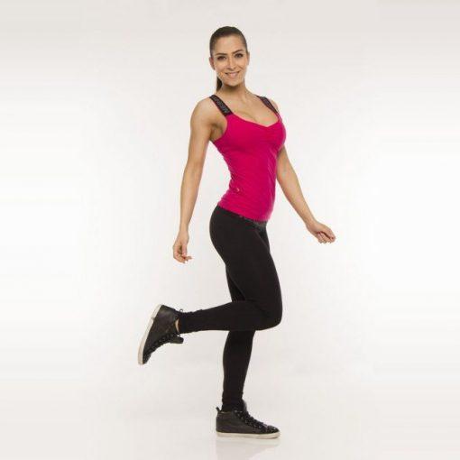 Nebbia Elastic 834 - Fitness Singlet Dames Roze 1