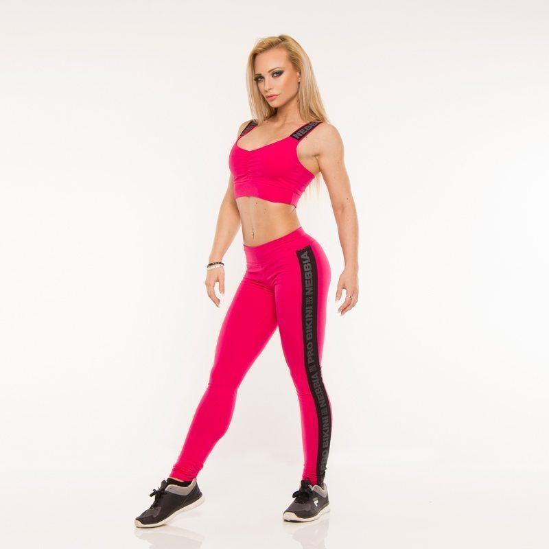 Sportlegging Roze.Nebbia Stripe 832 Sportlegging Roze Bodybuildingkleding Com