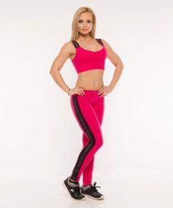 Nebbia-Sportlegging-Classic-Stripe-Roze-2