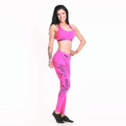 Nebbia sporttop 807 roze Nebbia sportlegging 804 roze zijkant