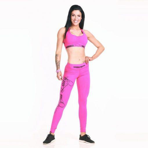 Nebbia sporttop 807 roze met Nebbia 804 sportlegging roze voorkant