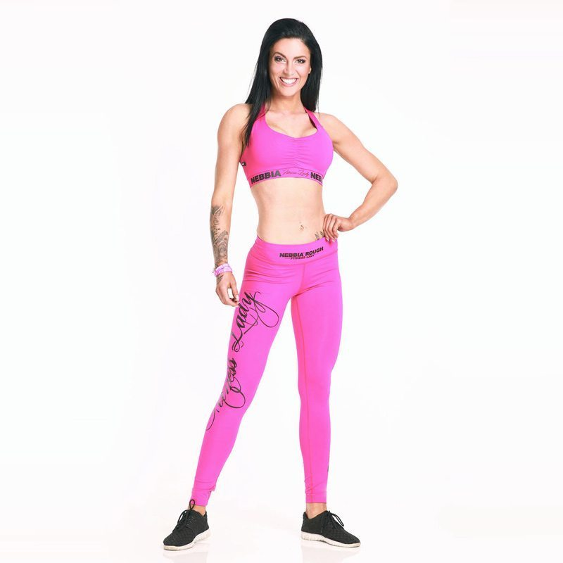 Sportlegging Roze.Nebbia Supplex 807 Sporttop Dames Roze Bodybuildingkleding Com