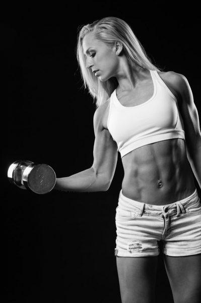 Larissa van Meerten Bodybuilding Kleding Atleet Fotoshoot